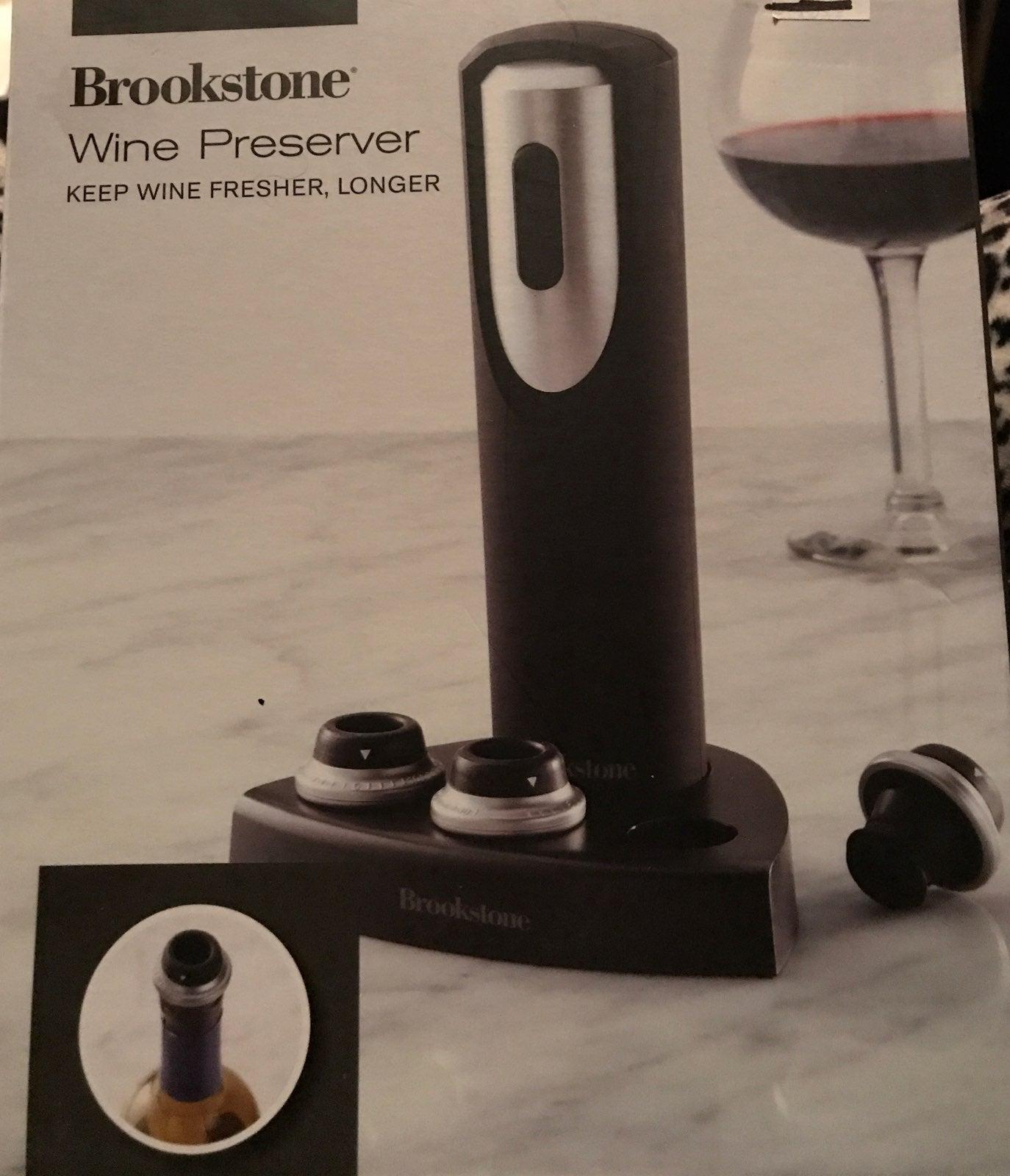 Brookstone Wine Preserver With Base