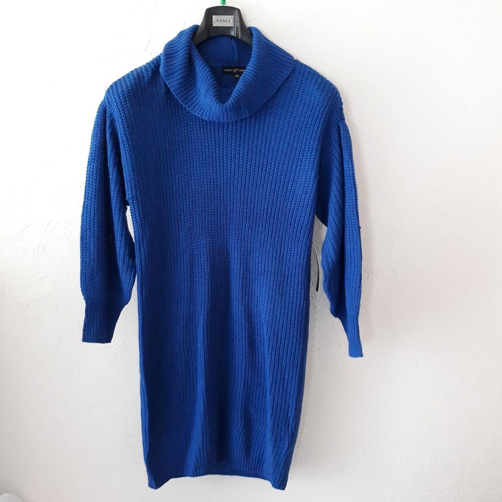 Women's Size 1X Sweater Dress Cowl Neck