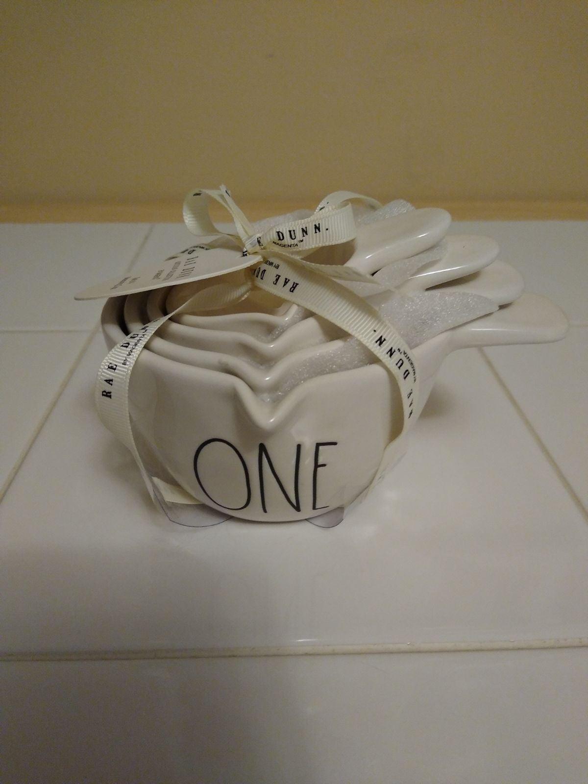 Rae Dunn White Handle Measuring Cups