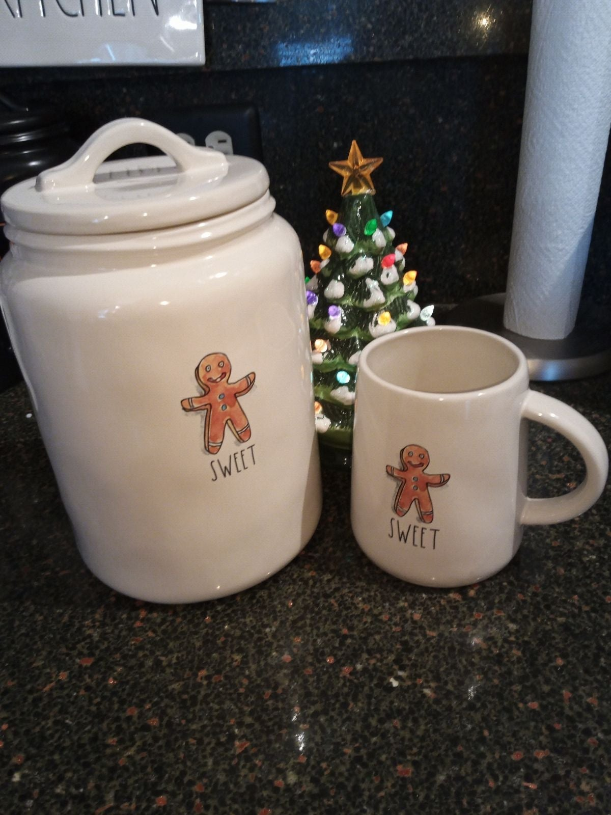 Rae Dunn Sweet Canister and Mug set