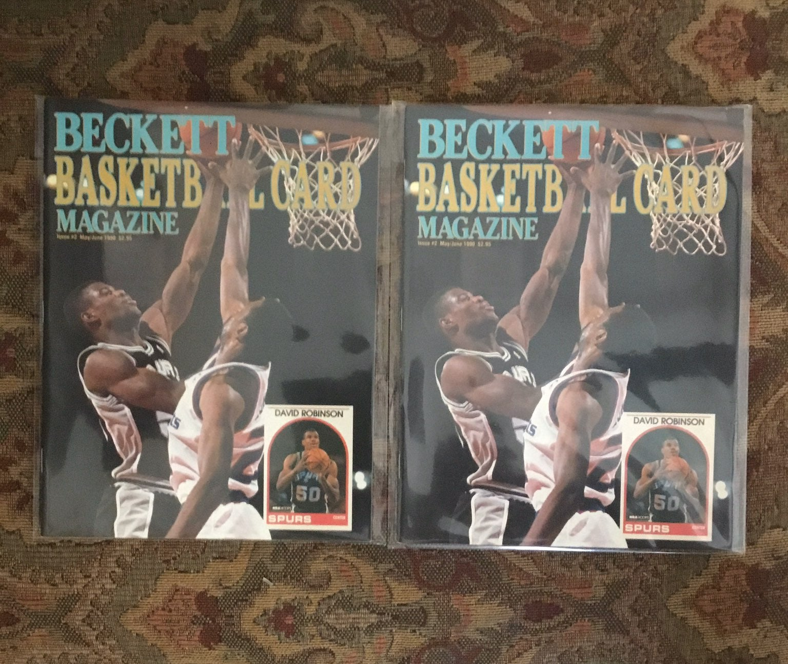 (2) David Robinson Basketball Beckett #2