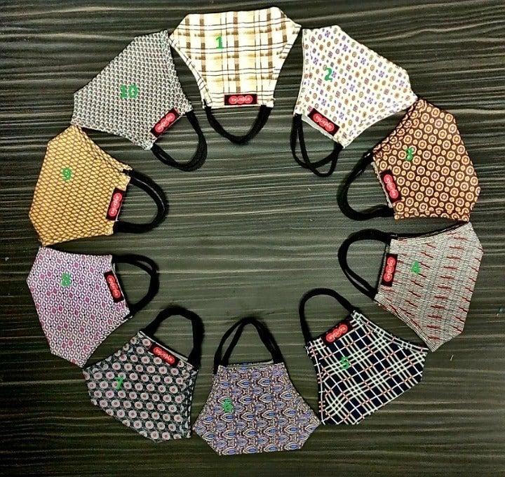 5Pc Cotton Adult Unisex Mask USA Seller