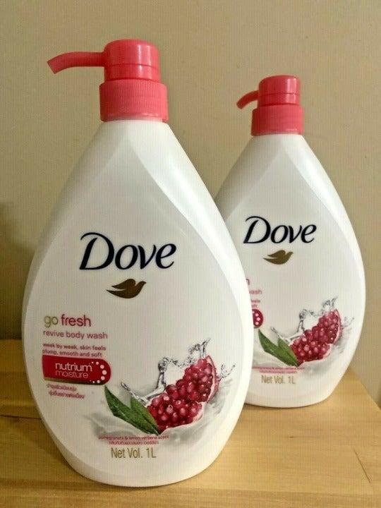 2 Dove Go Fresh Revive Body Wash Pomegra