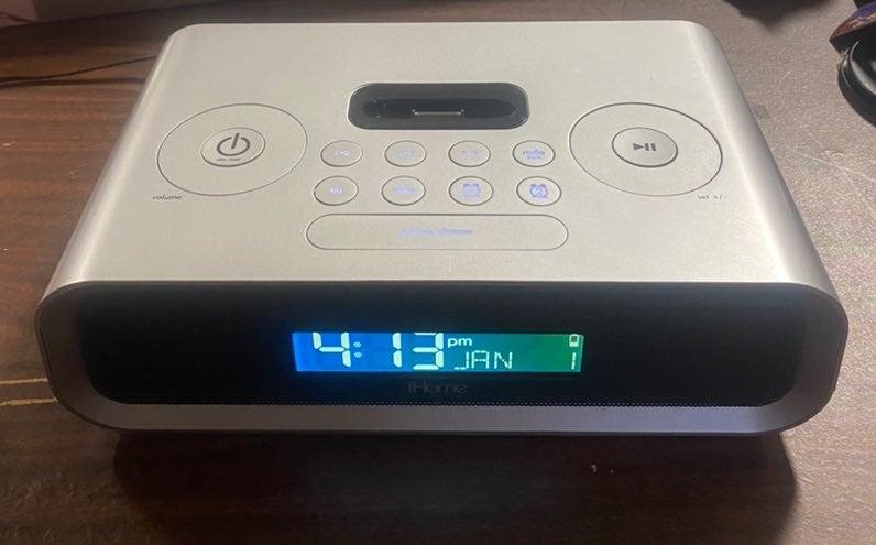 iHome ip97 dual alarm clock and radio fo