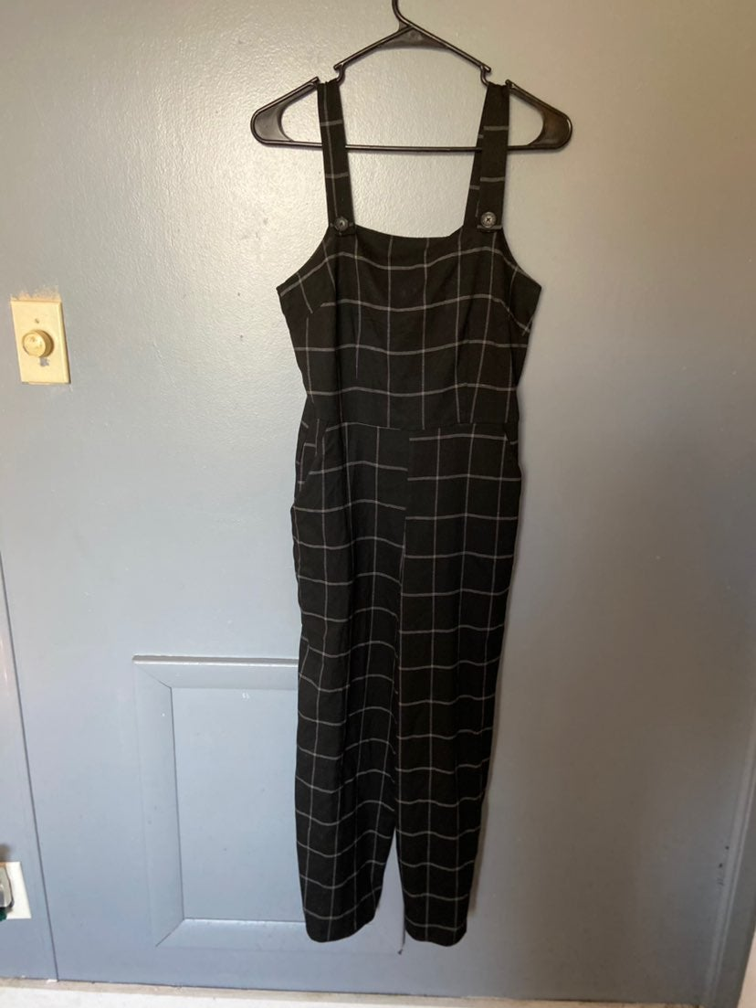 Black with white striped Jumpsuit