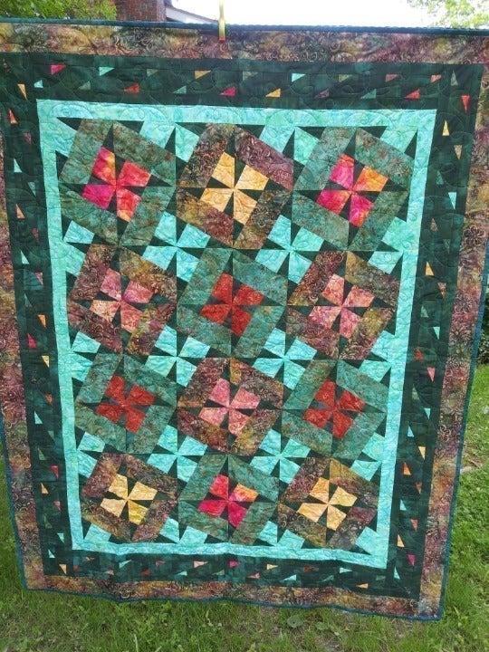 Tropical Paradise Batik Quilt