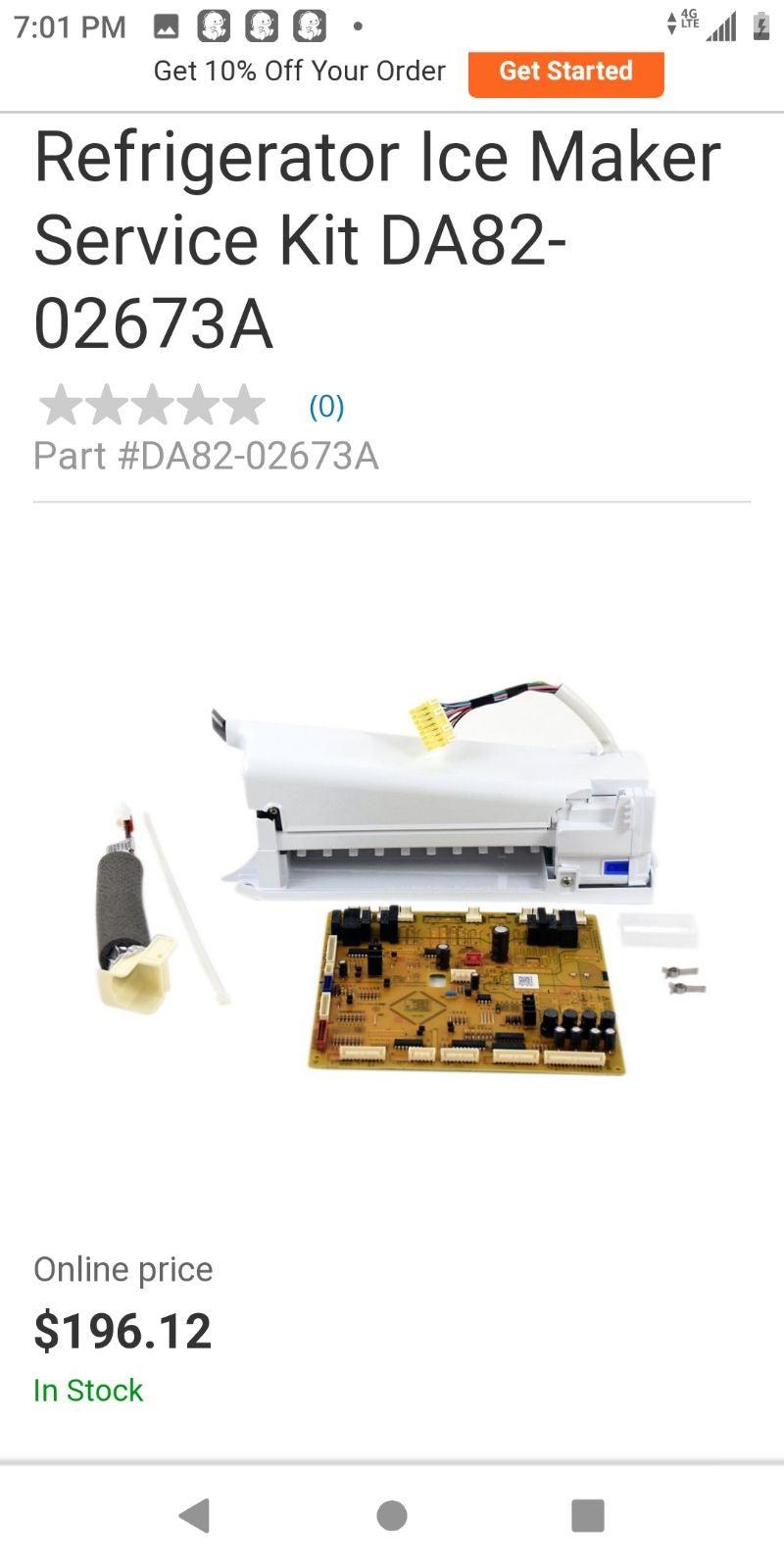 Ice maker assy and control board#da82-02