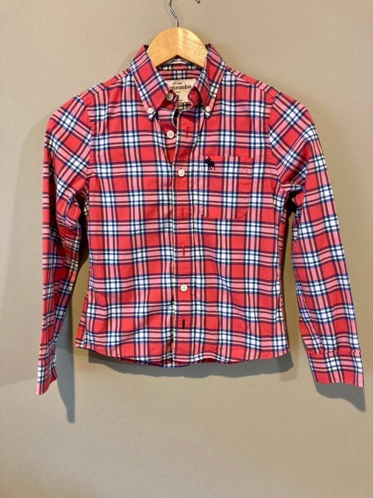 abercrombie kids plaid button down shirt