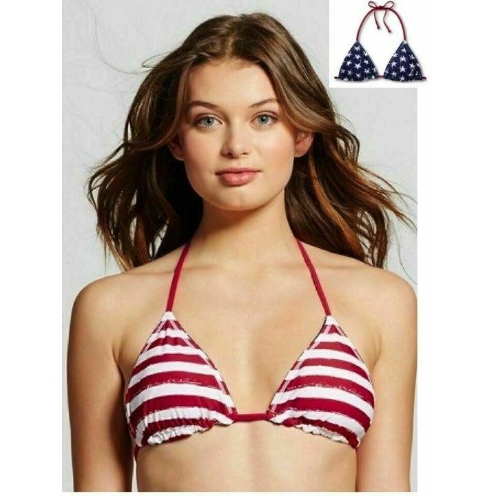 American Flag Reversible Bikini Top Bra