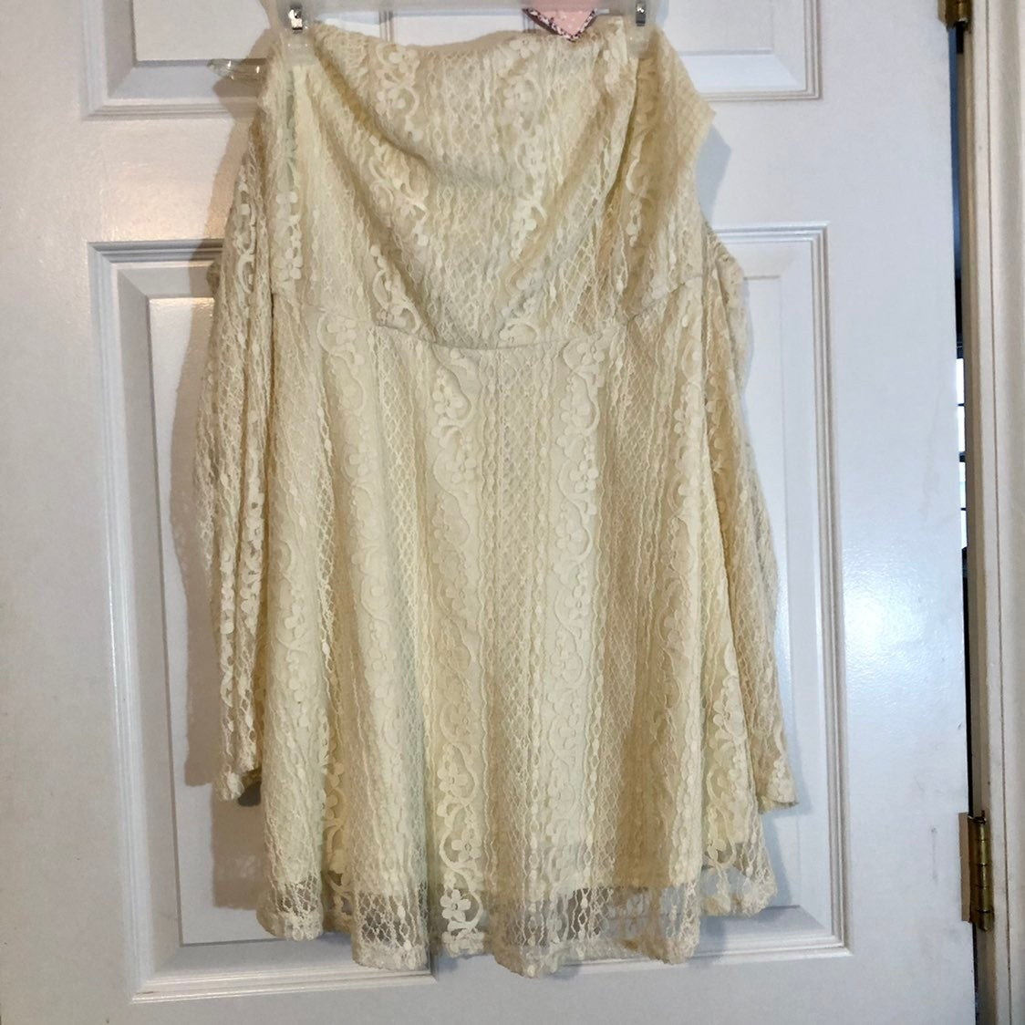 NWT Pink Owl Off Shoulder Lace Dress - L