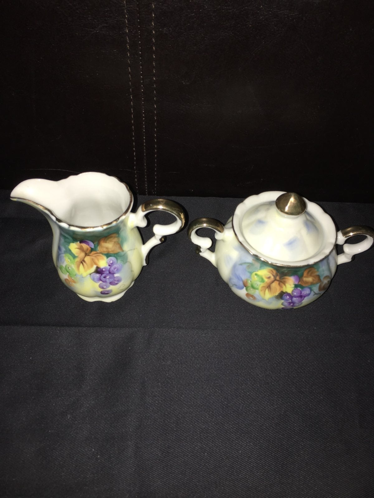 Lefton China Festival Creamer And Sugar