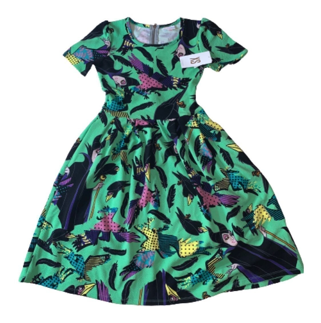 Lularoe Size XS Disney Maleficent Dress