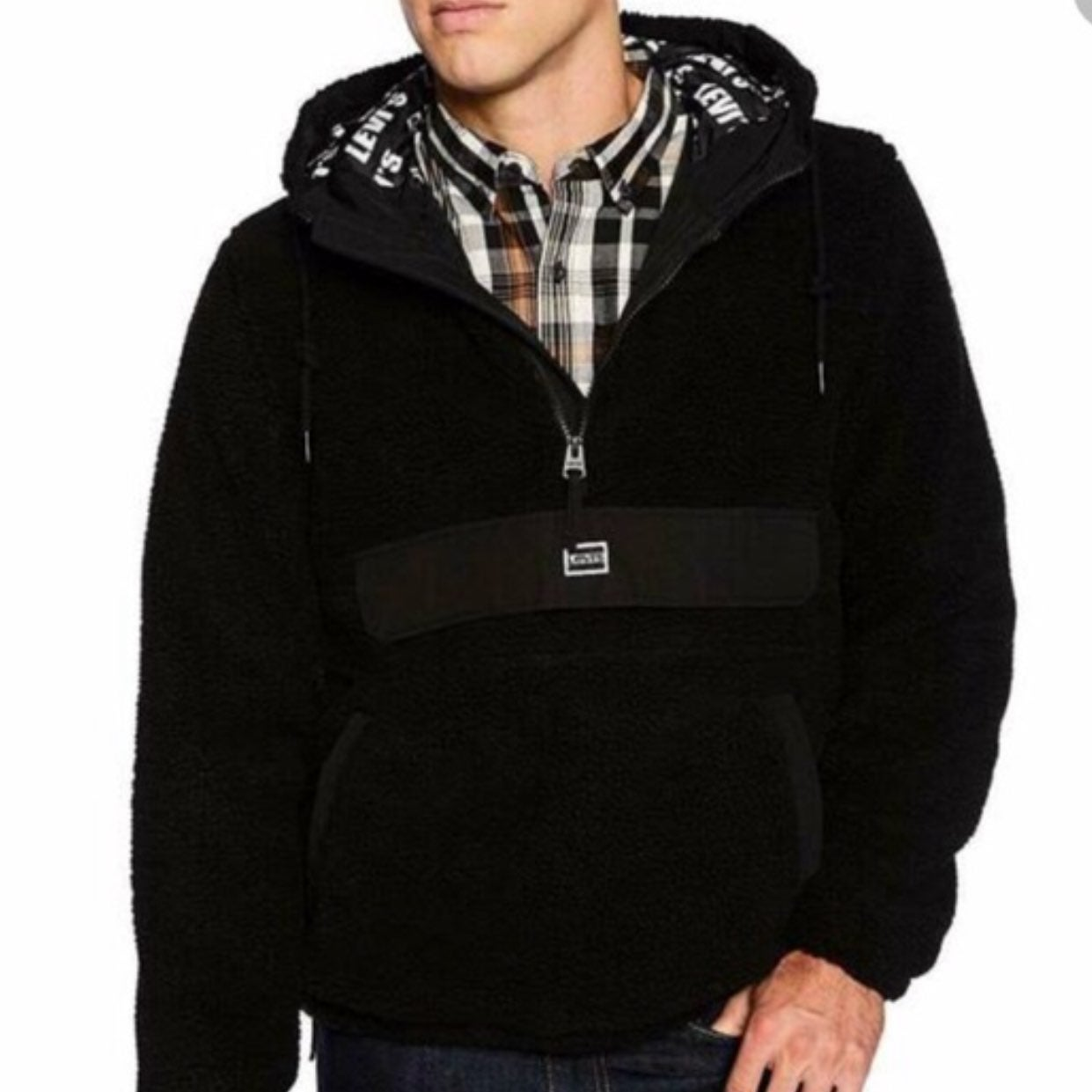 Levis Men's  pullover sherpa sweater
