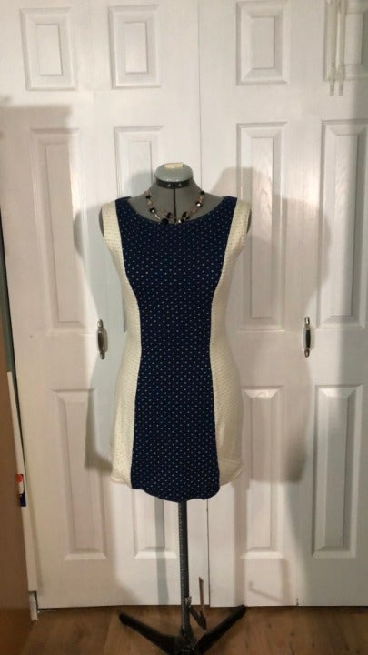 Reversible Handmade Color Block Dress S