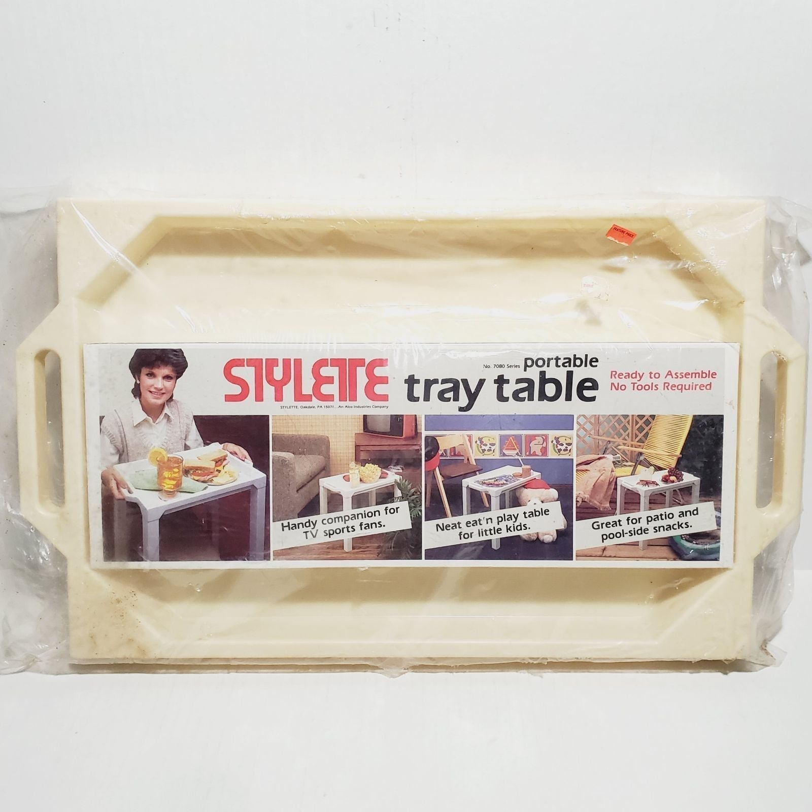 New Stylette Portable Tray Table  Ready