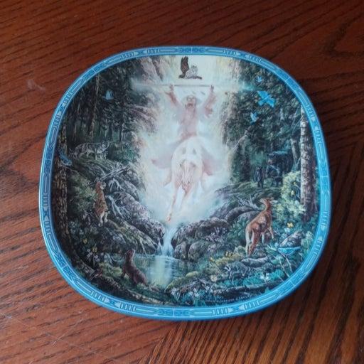 Porcelain Plate Springs Messenger