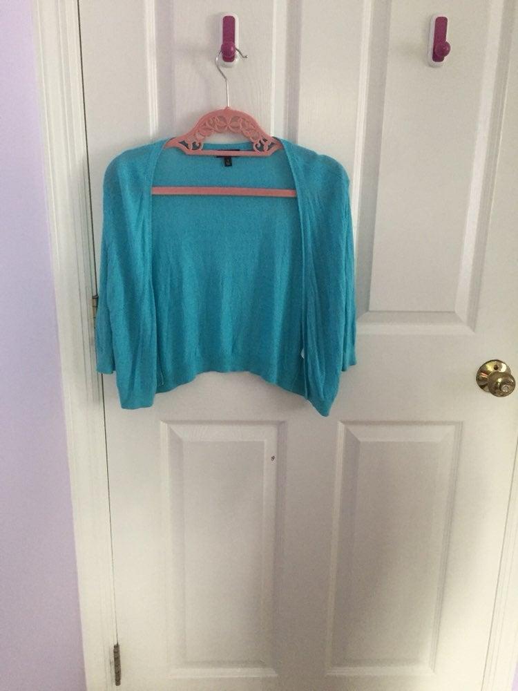Talbots turquoise dress shrug