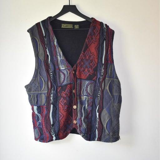 Vintage Coogi Style sweater vest