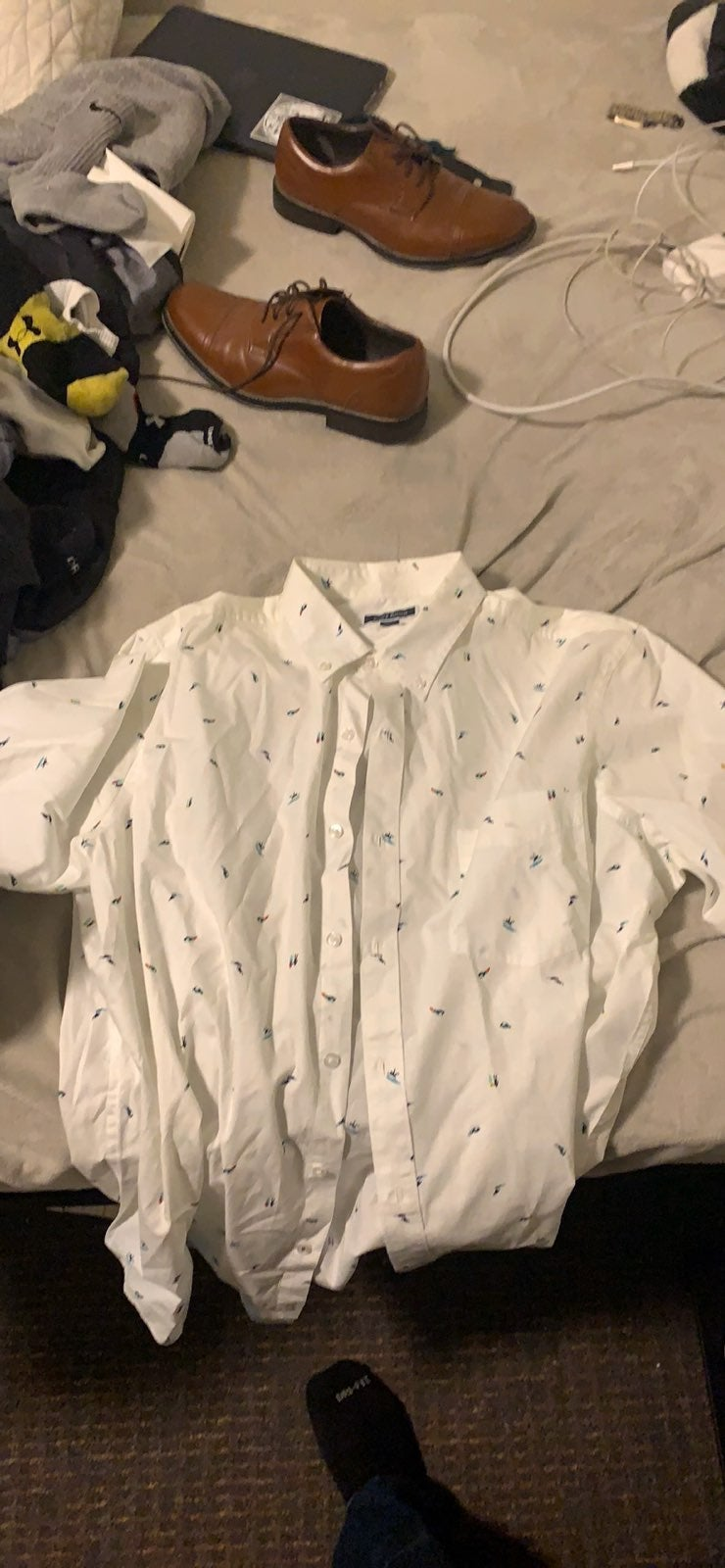Macys Button up short sleeve