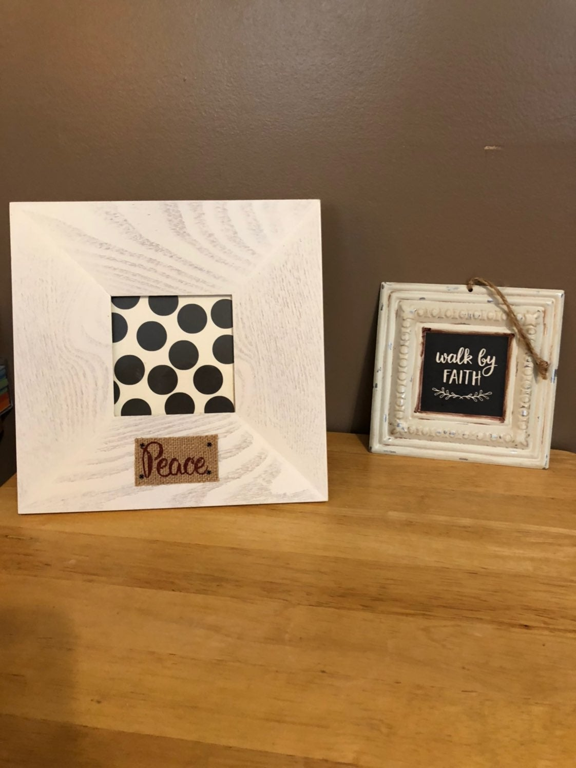 picture frame and wall hanging