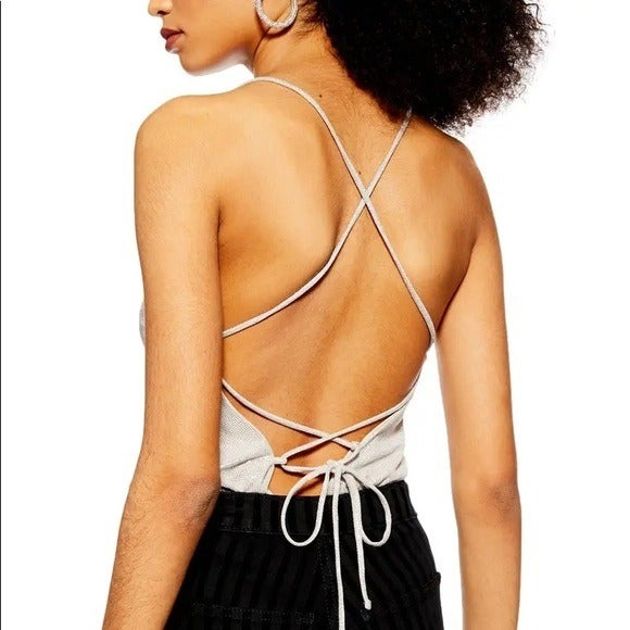 TOPSHOP CHAINMAIL TIE CAMISOLE NWT