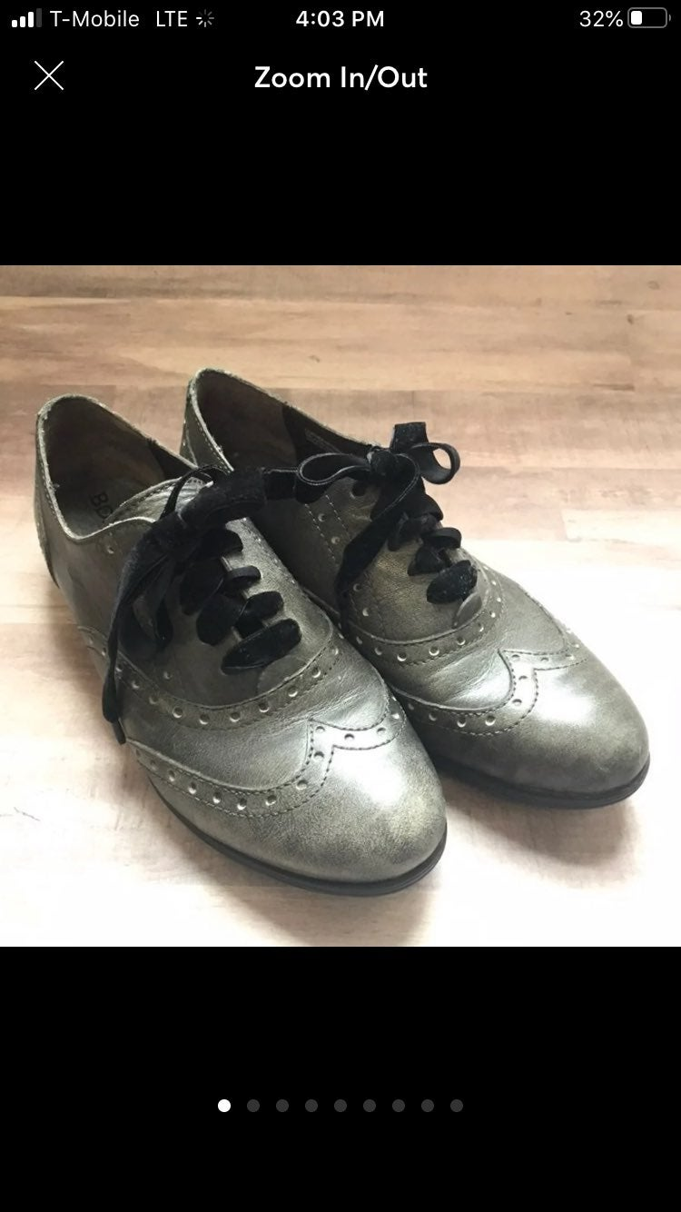 Size 8 Born Wingtips distressed Leather