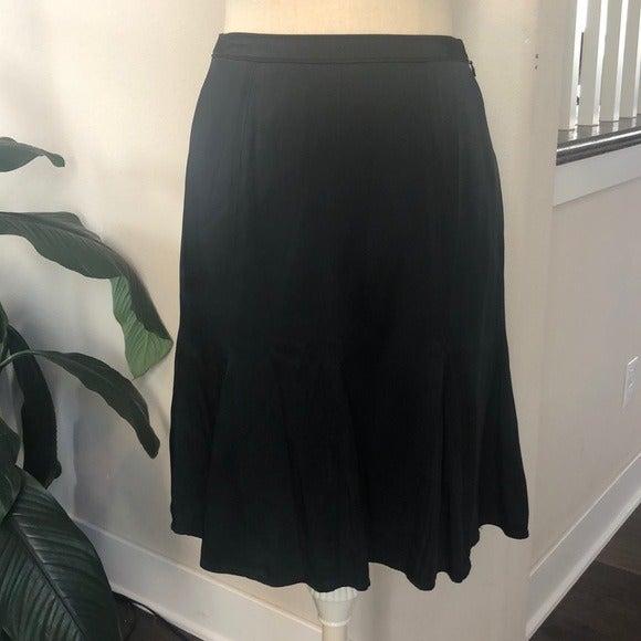 Ann Taylor black flare skirt, XS