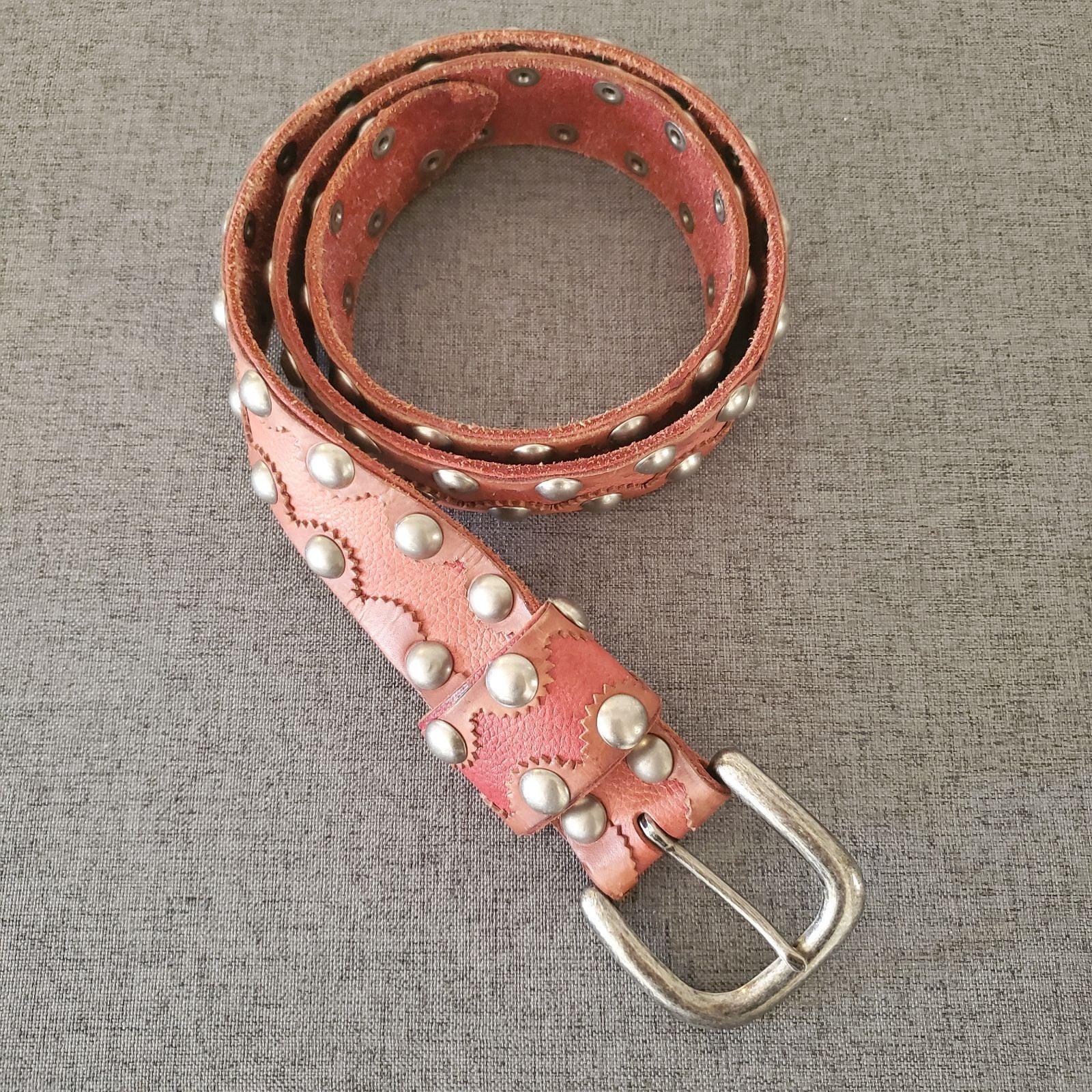 Studded Belt Vintage Leather