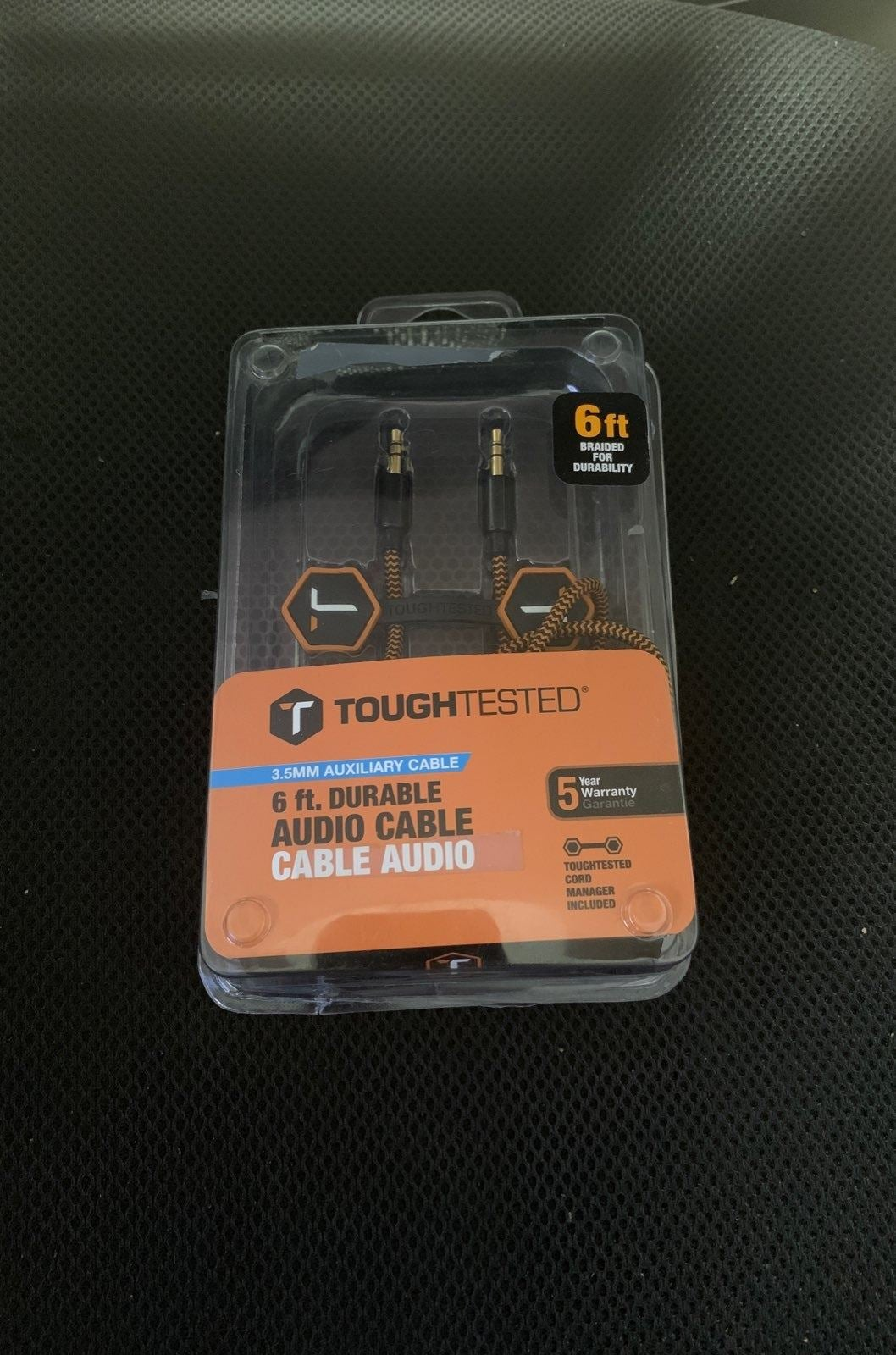 Toughtested 3.5mm Aux Cable 6 Foot
