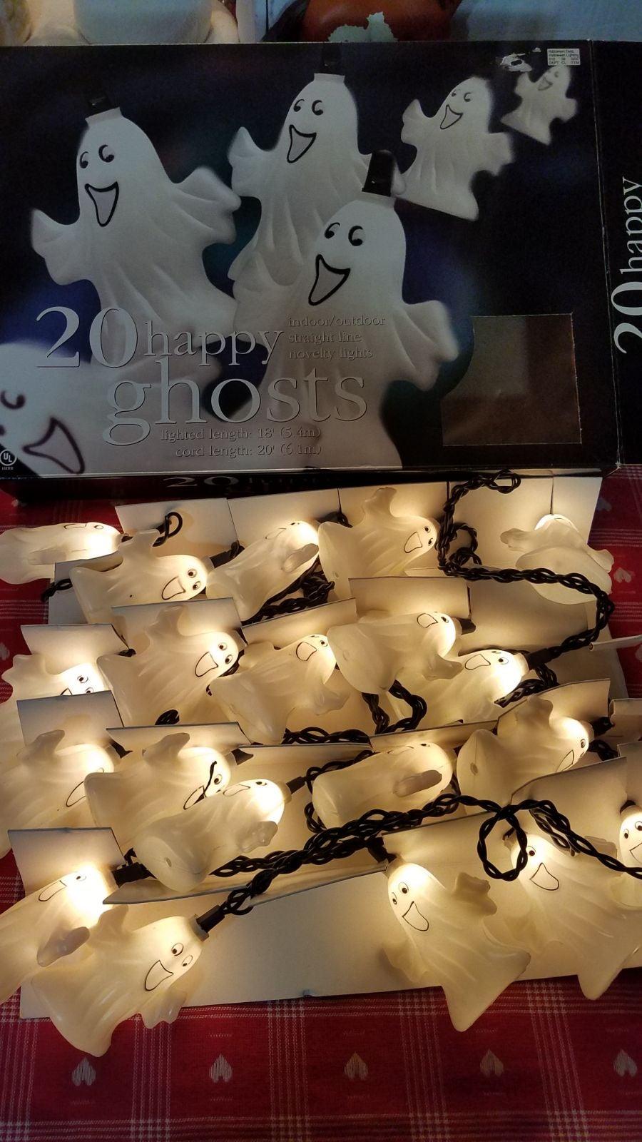 Vintage Halloween Blow Mold Lights Lot