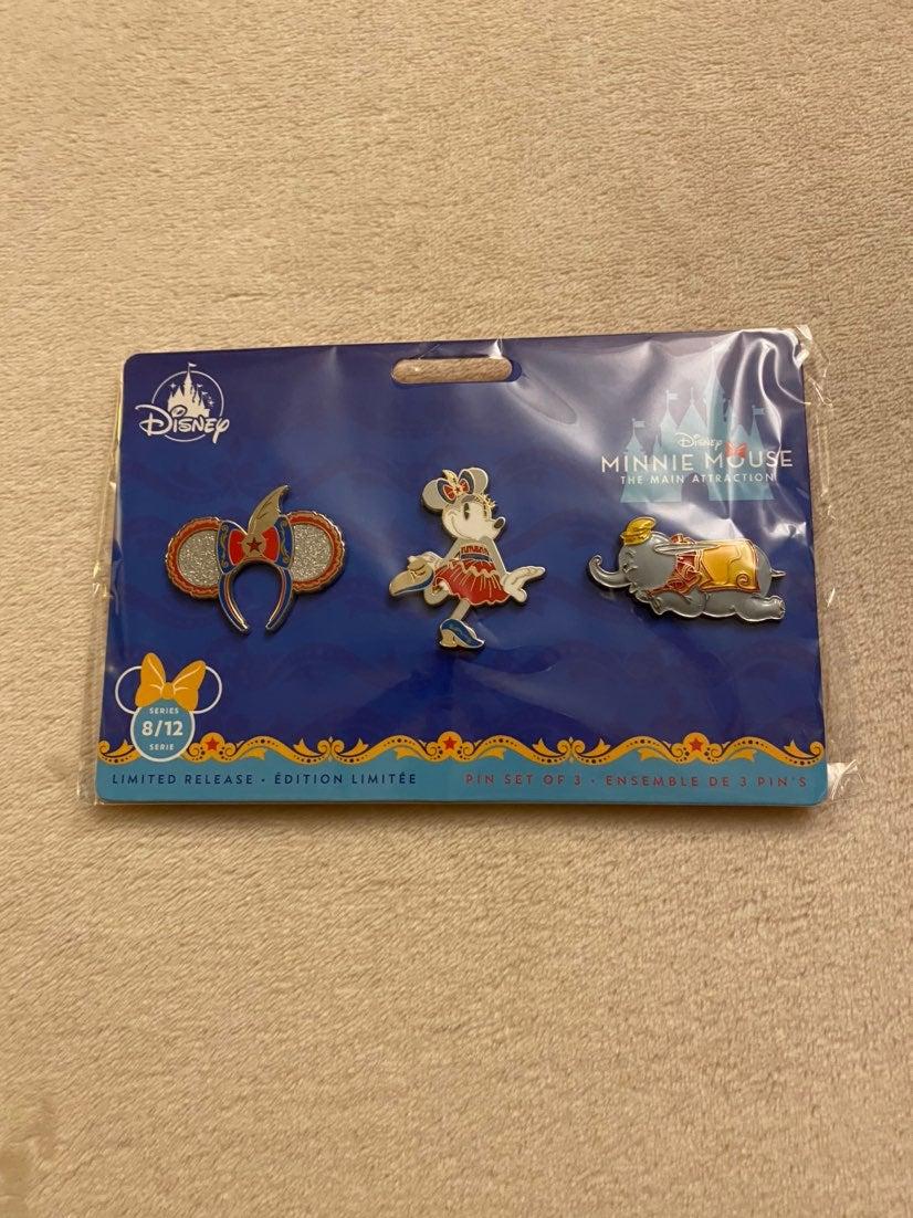 New Disney Parks Limited Dumbo Pin Set