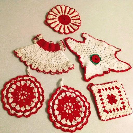 Crochet Hot Pads Vintage
