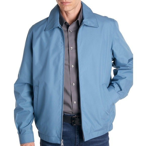 PERRY ELLIS Spread Collar Golf Jacket