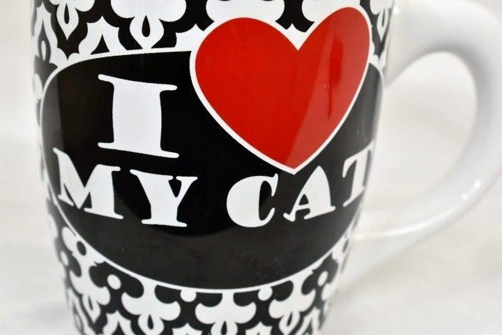 Large Coffee Mug I love My Cat