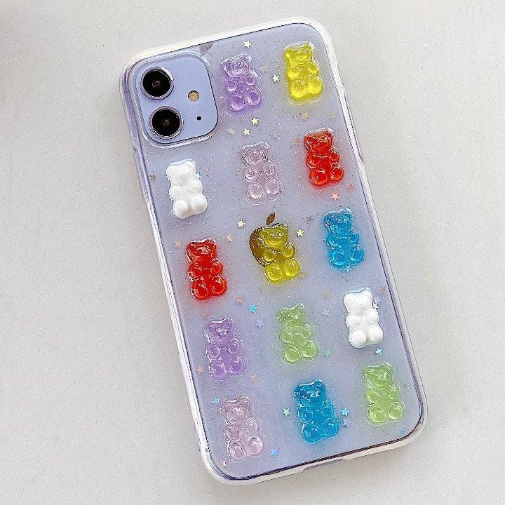 Jelly Rainbow Bear 3D Fun Case
