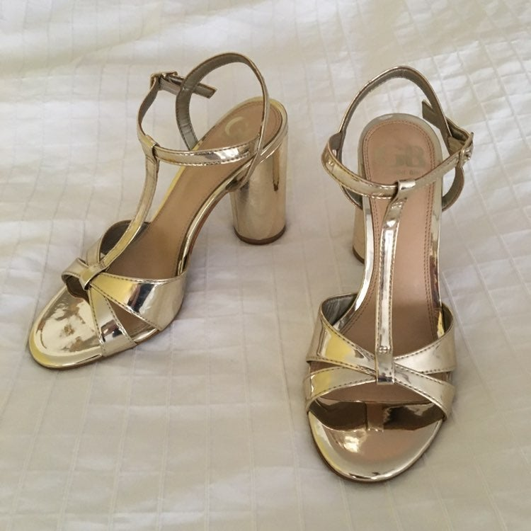 GIANNI BINI GOLD HEELS