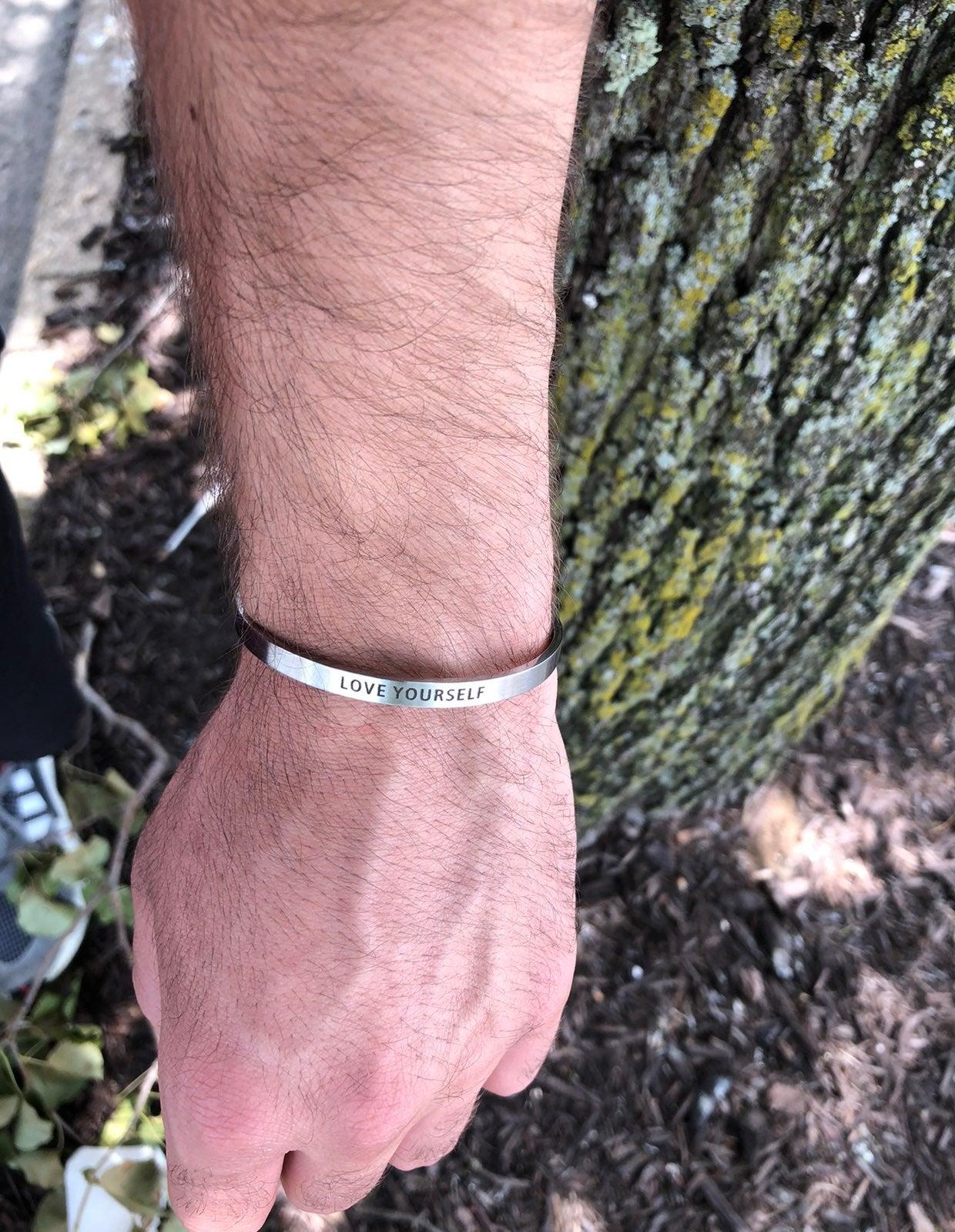 """Custom Bracelet """"LOVE YOURSELF"""""""