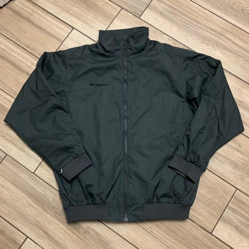 Columbia Grey Heavy Fleece Jacket Men L