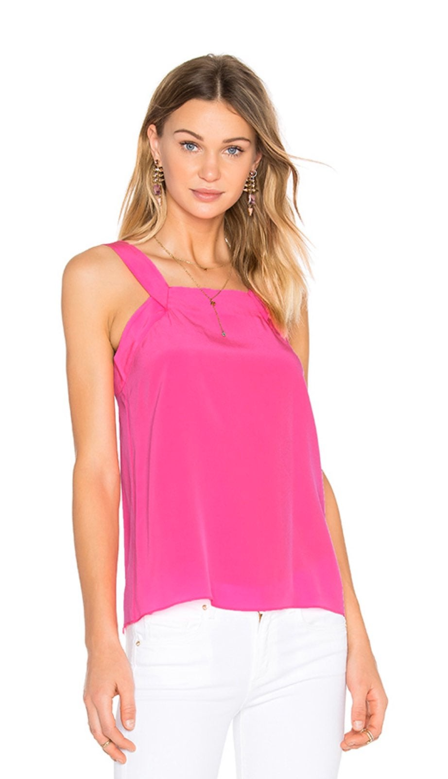 Trina Turk Bright Pink Else Silk Tank