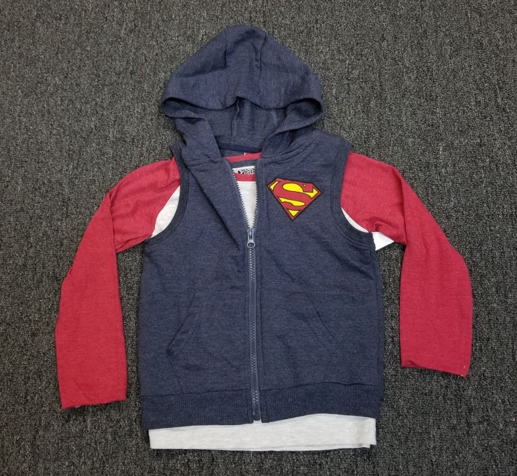 Boys Superman shirt and vest 4T