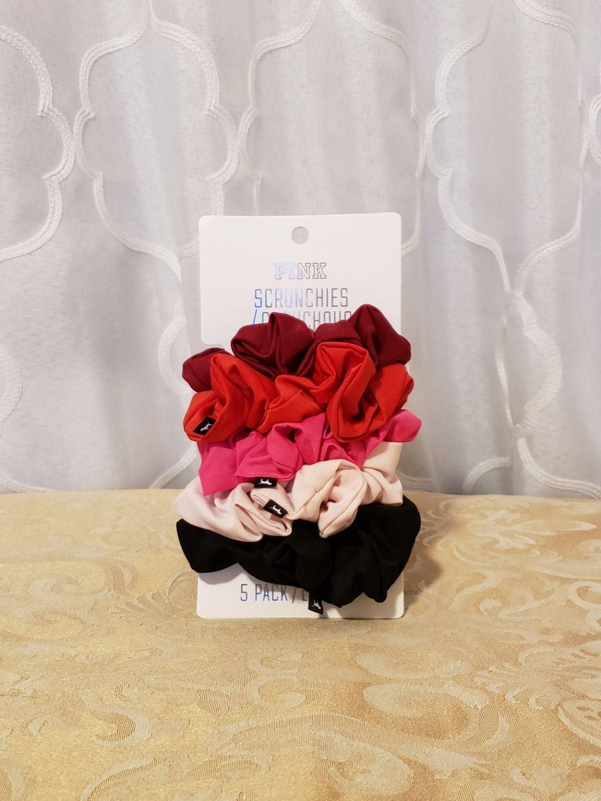 PINK Victoria's Secret 5 Scrunchies (New
