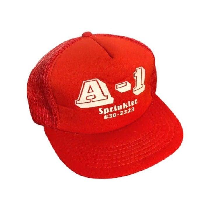 Vintage 80s A-1 Sprinklers Trucker Hat S