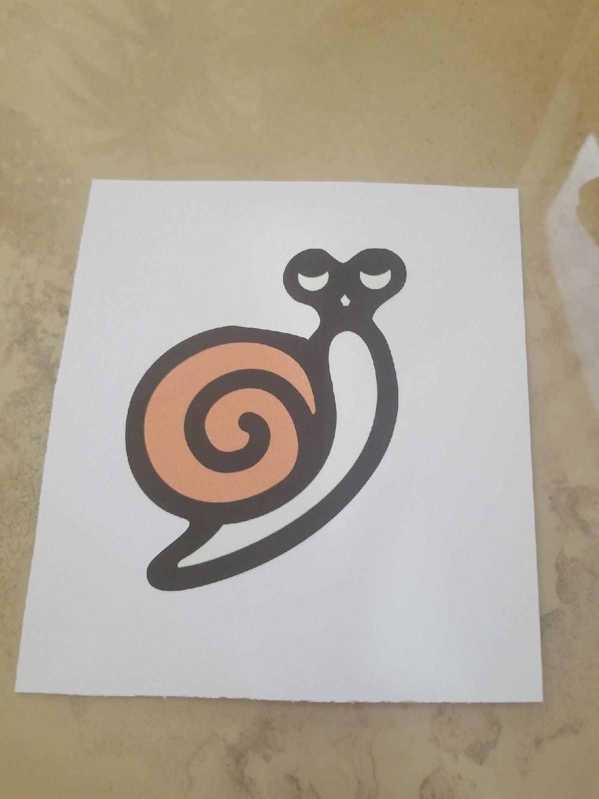 Snail Vinyl reusable Decal/sticker
