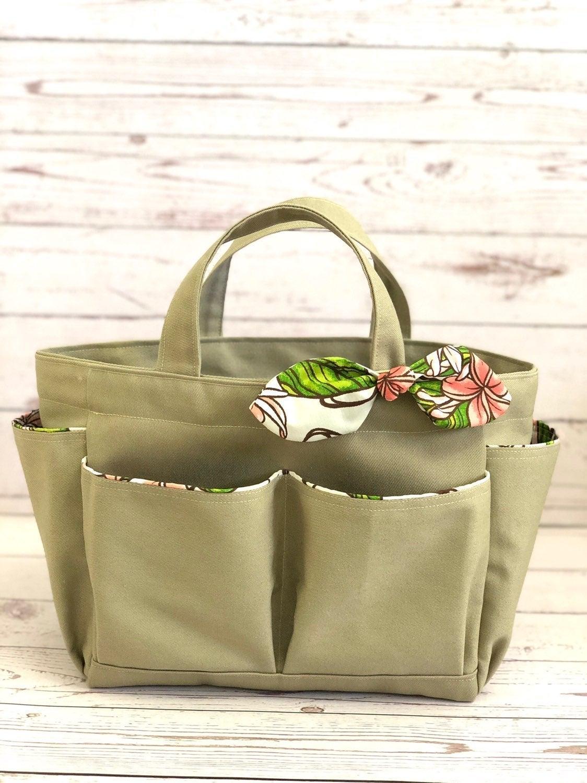Handmade Hawaiian canvas tote bag