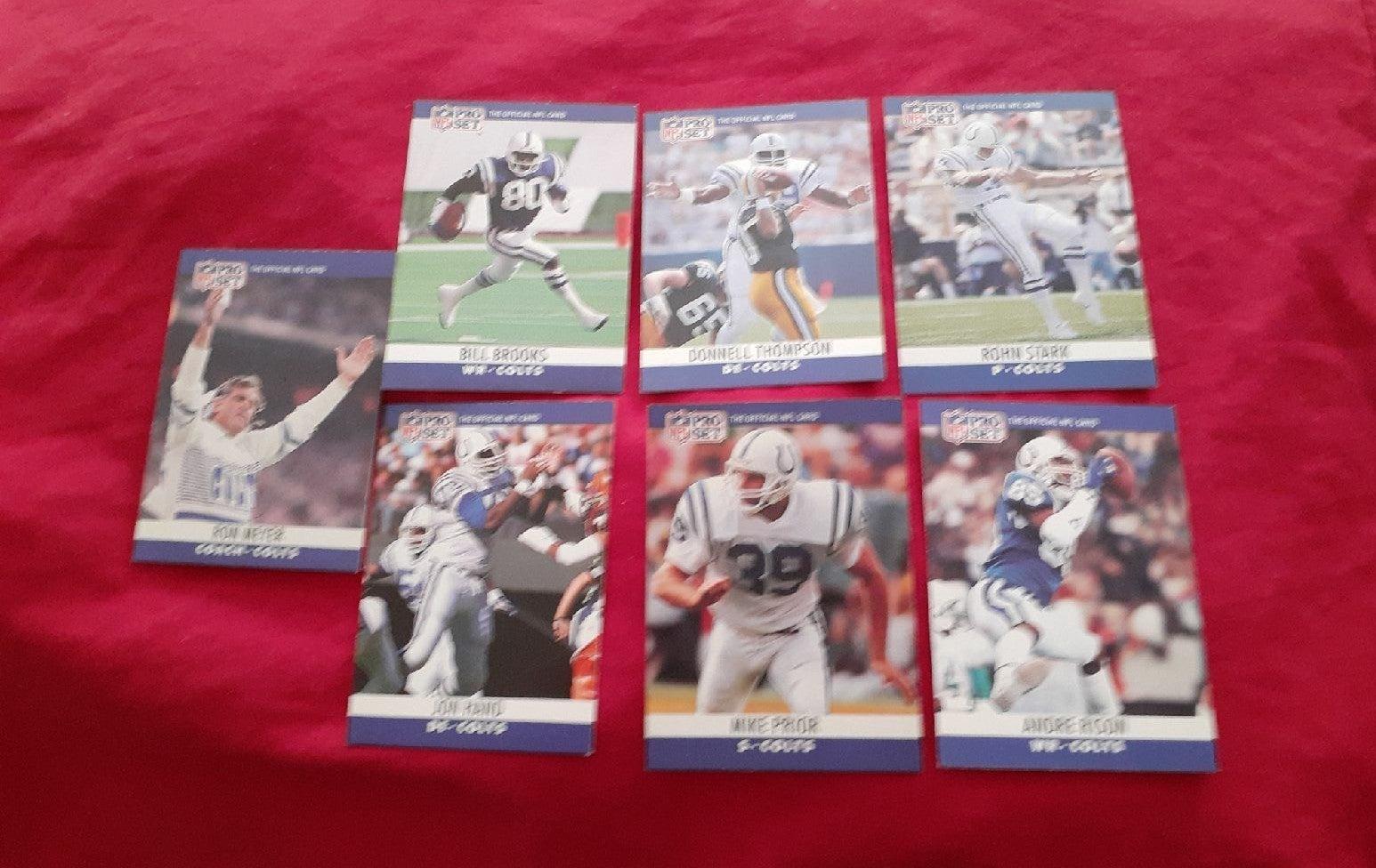 1990 NFL Pro Set Colts Card Lot (7)