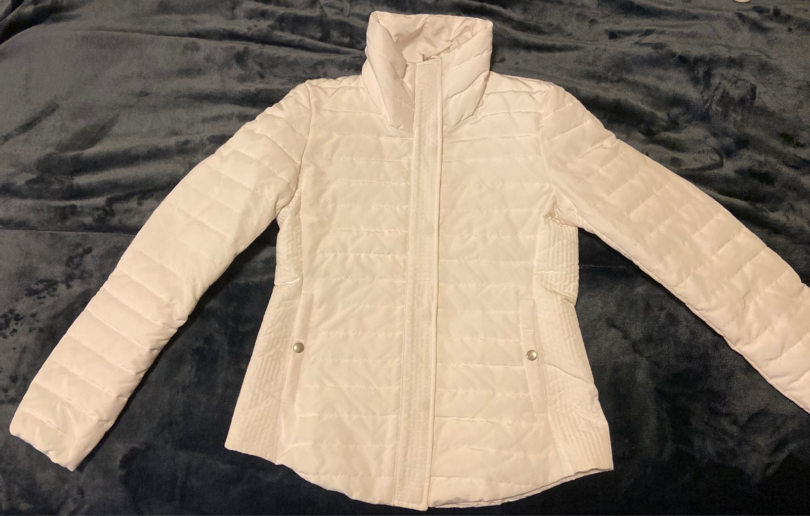 White LOFT puffer jacket