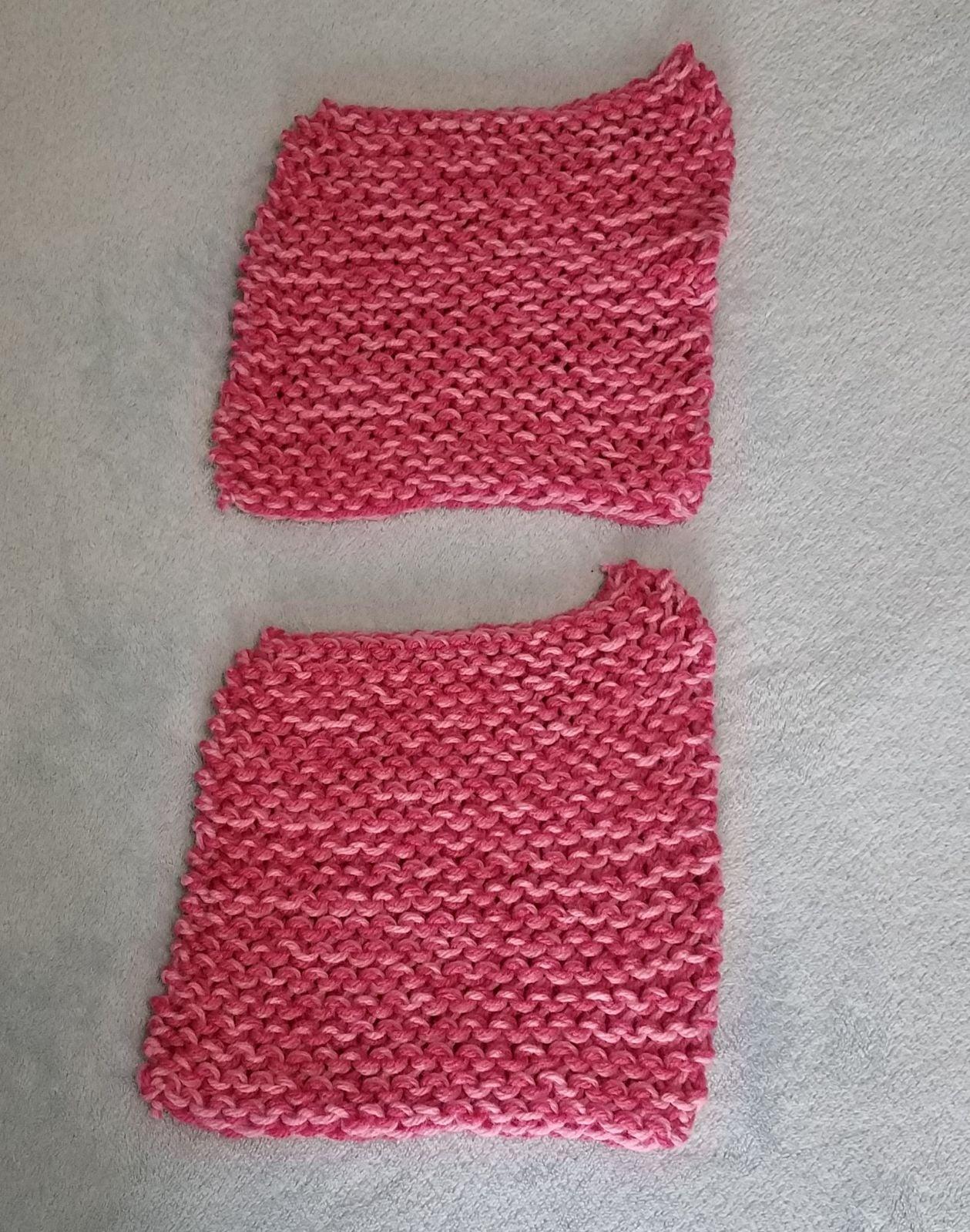 Handmade Dish Cloth Bundle Pink Tones