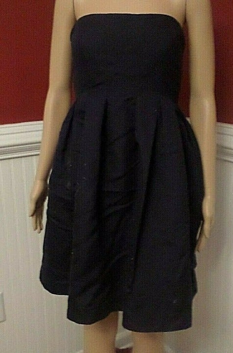 J.CREW Strapless Navy Blue DRESS Size 4P