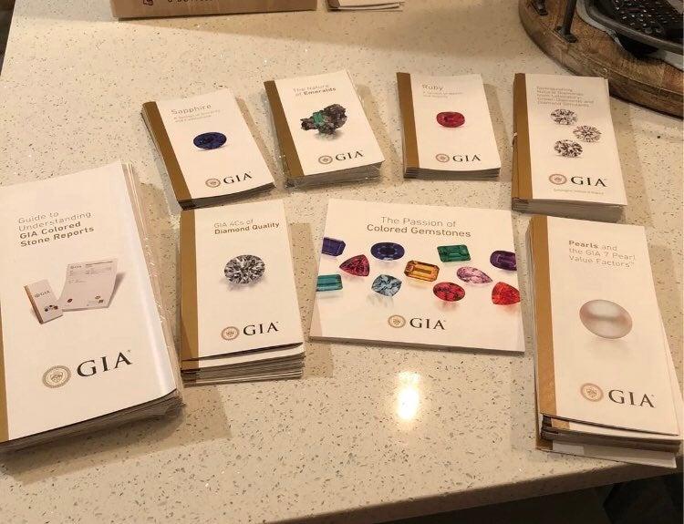 Gemstone/Jeweler's Chart/Book/Brochures