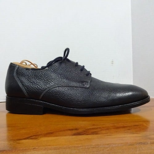 SANDRO BLACK LEATHER LACE FRONT SHOES